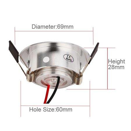 Spot encastrable LED diamètre 60 3W