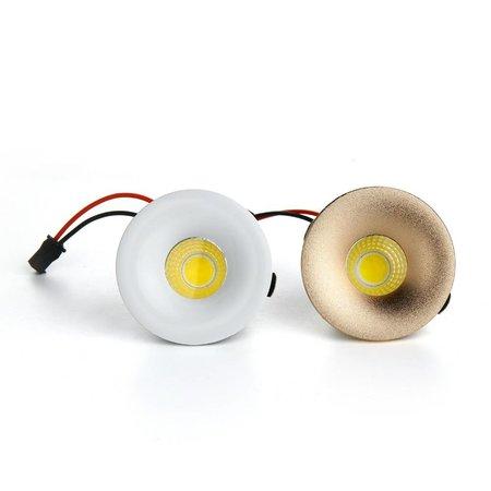Mini LED spot 32mm zaagmaat/50mm Ø wit, goud en zwart