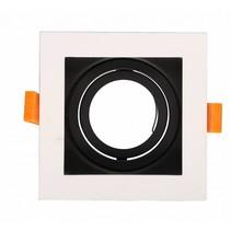 Vierkante spot wit, zwart, goud GU10