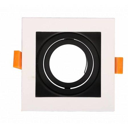Spot encastré carré noir, blanc, doré GU10