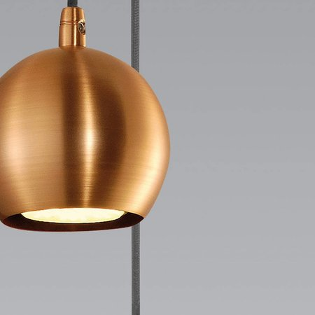 Hanglamp klein bal, wit, koper, messing of zwart 89mm Ø