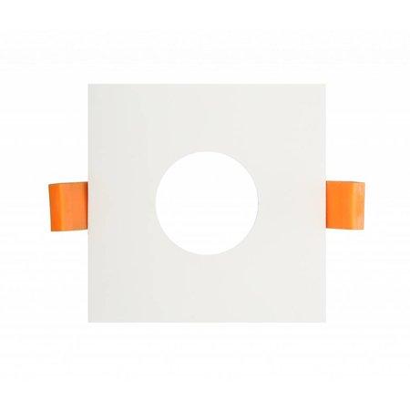 Spot vierkant GU10 inbouw wit, grijs