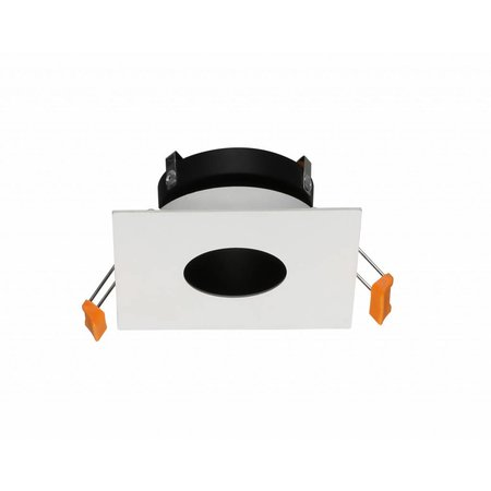 Downlight square GU10 white, grey