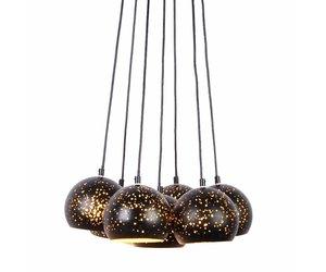 Hanglamp Meerdere Lampen : Hanglamp meerdere lampen zwart goud e myplanetled