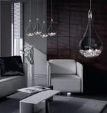 3 druppels lamp glas met parels G4