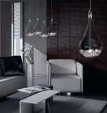Drop lamp glass with pearls G4