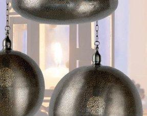 Zilveren hanglampen