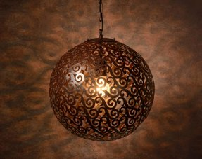 Brown pendant lights