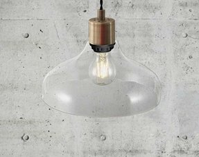 Pendant lamps transparent