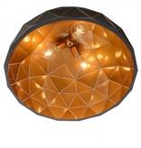Geometric light black gold inside or white 60cm Ø