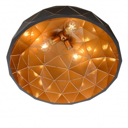 Geometric light black gold inside or white 60cm Ø