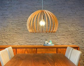 Pendant lights wood