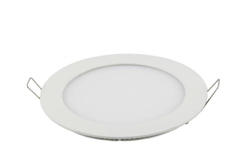 LED panel light 6W round recessed 120mm diameter white