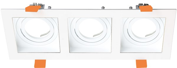 3 recessed lighting black, white, gold GU10