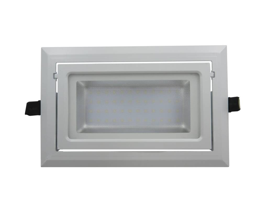Downlight recessed LED rectangular 40W orientable