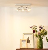 Ceiling light for kitchen grey or white GU10 LED 3x4,5W