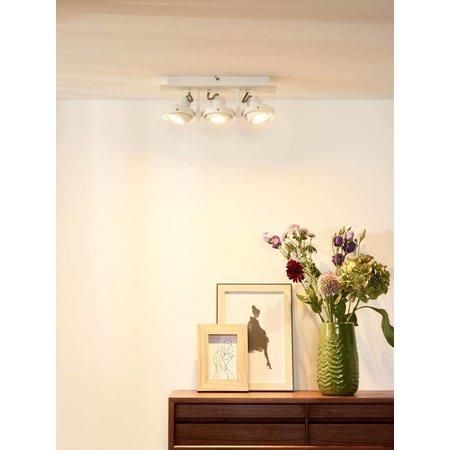 Design ceiling spot white or gray GU10 LED 3x4.5W dim to warm