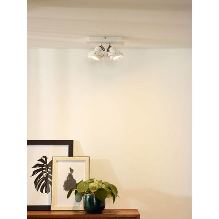 Design ceiling spot white or grey GU10 LED 2x5W dim-to-warm