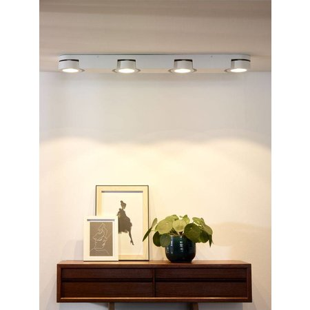Plafonnier 4 spots LED blanc moderne 4x5W