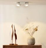 Dubbele wandspot 2x5W richtbaar wit