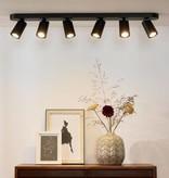 Design plafondspot wit, zwart richtbaar GU10x6 dim to warm