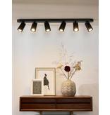 Cylinder ceiling light white or black orientable GU10x6