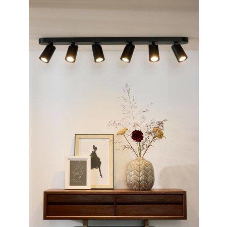 Design plafondspot wit, zwart richtbaar GU10x6