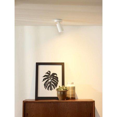 Design plafondspot wit, zwart richtbaar GU10x1