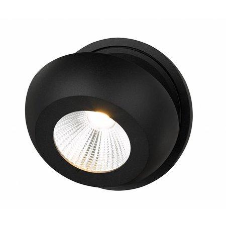 Plafonnier 1 spot LED design blanc ou noir