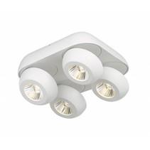 Plafondlamp met 4 spots LED 4x7W wit of zwart