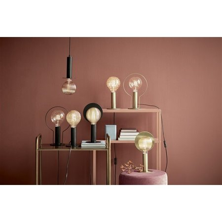 Minimalistic table lamp black or brass E27