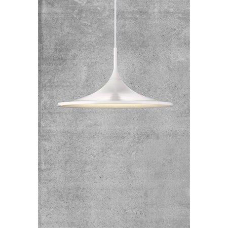 Trompet lamp wit of zwart LED 35 of 57cm Ø