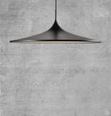 Lampe trompette blanche ou noire LED 35 ou 57cm Ø
