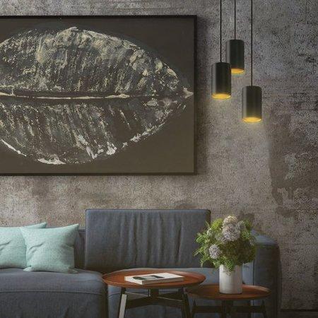 Gold hanging pendant light black or white 3xGU10