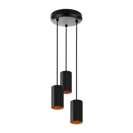 Goudkleurige hanglamp zwart of wit 3xGU10