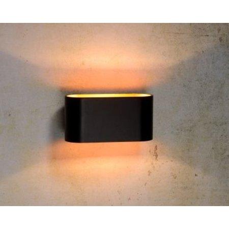 Wandlamp goud met wit of zwart G9