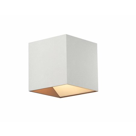 Wall light LED square brown 11W 106mm high