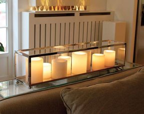 Candle table lamps