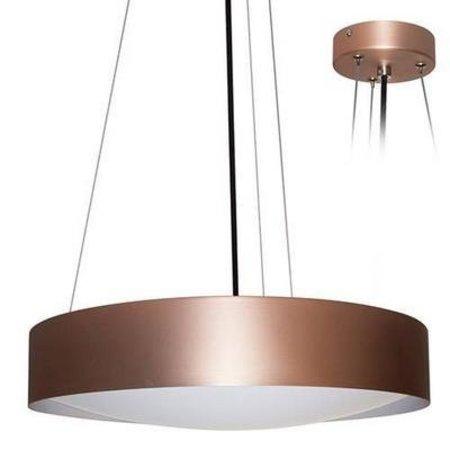 Hanglamp boven eettafel LED rond wit, zwart 366mm Ø 30W
