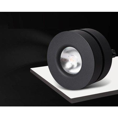 Opbouwspot LED kantelbaar wit of zwart 7, 10 of 12W