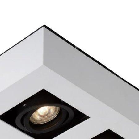 4 spots plafond LED noir-blanc 4x5W