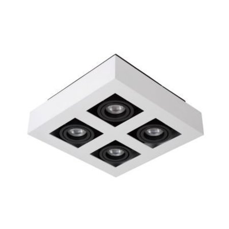 4 way spot light LED black-white 4x5W dim-to-warm