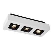 3 spots LED blanc-noir 3x5W dimmable