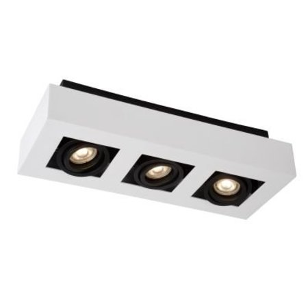 3 spots LED blanc-noir 3x5W dimmable-to-warm