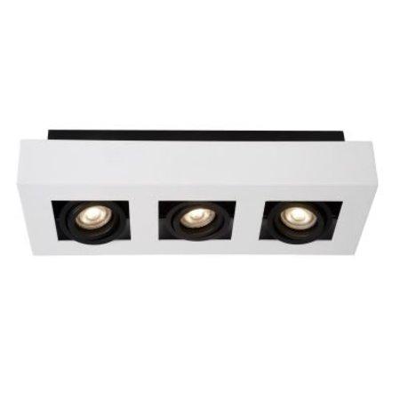 3 way spot light LED white-black 3x5W