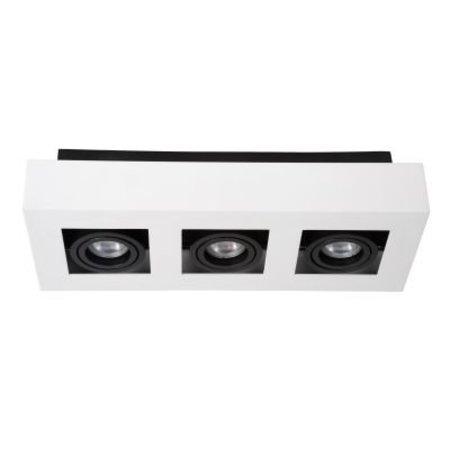 LED opbouwspot dimbaar wit-zwart 3x5W