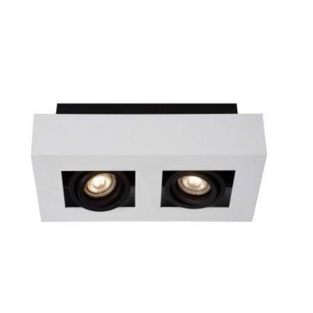 2 way spotlight LED white-black 2x5W dim-to-warm