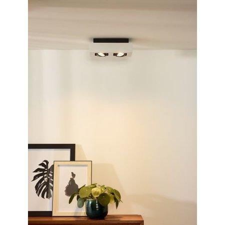 Plafondverlichting spots LED wit-zwart 2x5W
