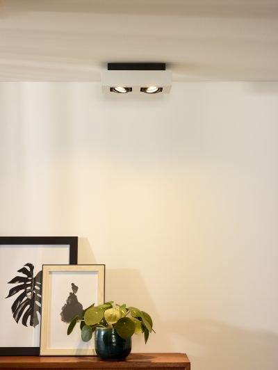 plafondverlichting spots led wit zwart 2x5w