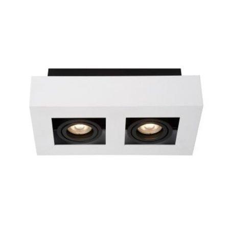 2 way spotlight LED white-black 2x5W